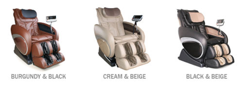 Osaki OS-4000 massage chair colors