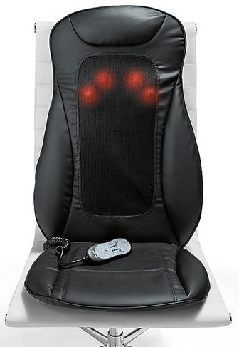 massage pad for chair. first up we have the i-need shiatsu seat topper with heat from brookstone. its main claim to fame is that it offers a massage instead of vibrating pad for chair