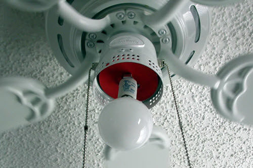 How to change a light bulb or remove the glass dome from your harbor ceiling fan without globe aloadofball Choice Image