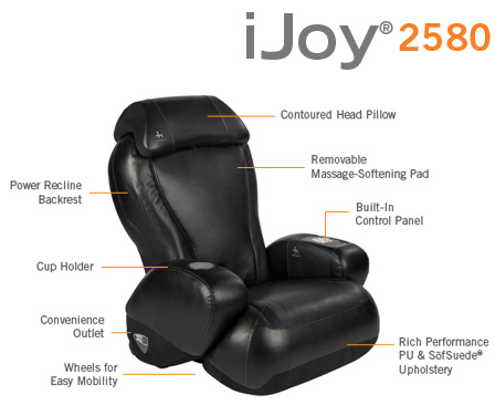 iJoy Massage Chair features