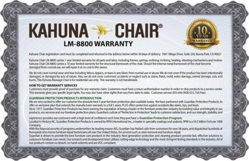 massage chair warranty