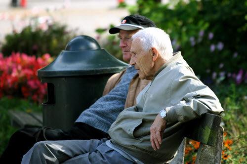 old men sitting down