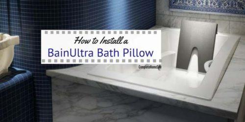 How to Install a BainUltra Bath Pillow