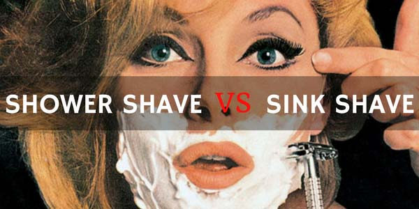 Shower Shave vs Sink Shave
