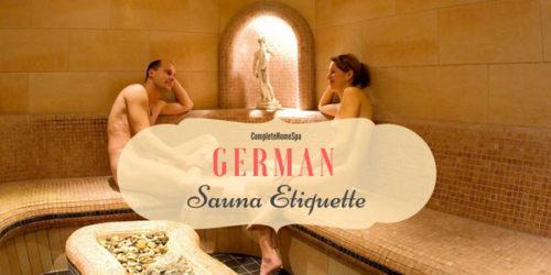 German Sauna Etiquette