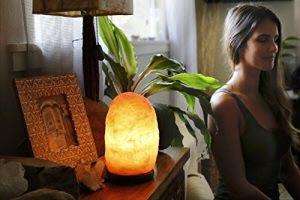 salt lamp glow