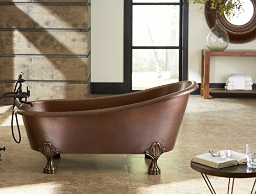 add a touch of timeless elegance and classic style to your bathroom with this solid antique copper clawfoot bathtub each tub from sinkology is handmade and