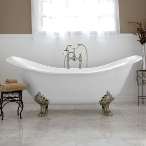 double slipper claw tubs
