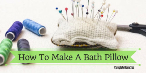 How To Make A Bath Pillow