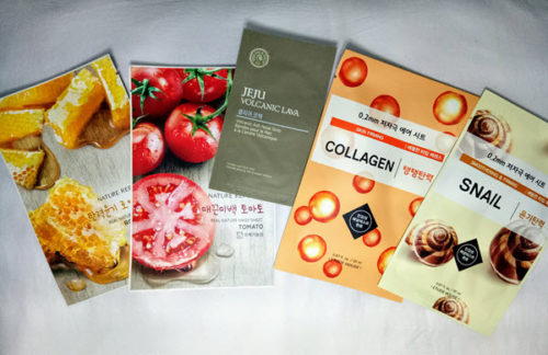 Korean face mask haul