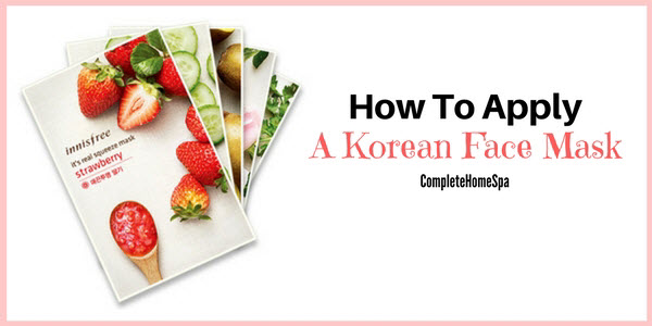 how to apply korean face mask