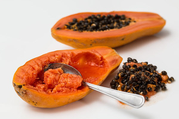 raw papaya juice for pimples