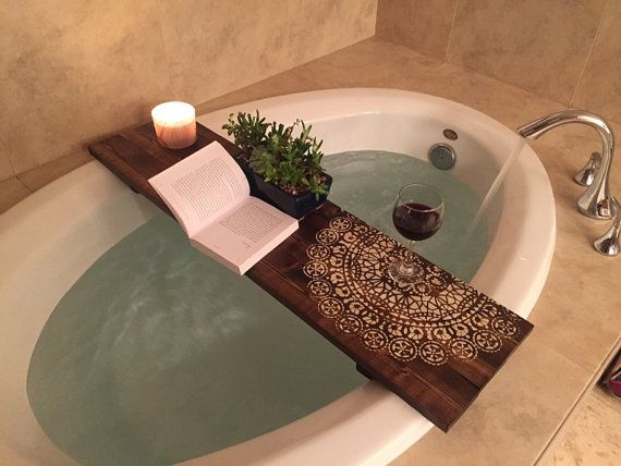 A Quick and Easy DIY Bathtub Tray Tutorial (Oct. 2018)