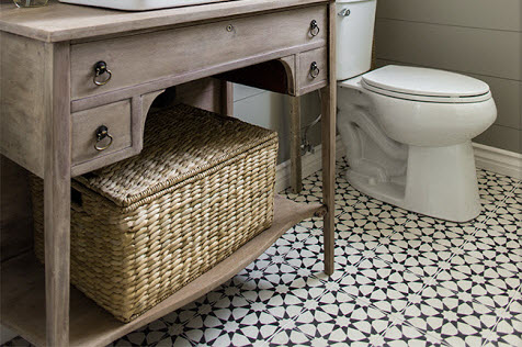 fun flooring small bathroom