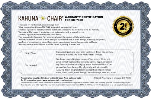 kahuna sm 7300 warranty